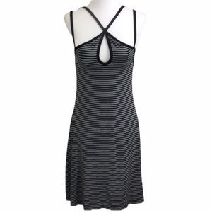 American Eagle Outfitters Black Stripe Dress M NWT